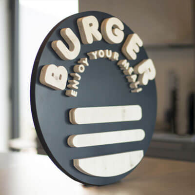 Logo 3D burger Grenoble