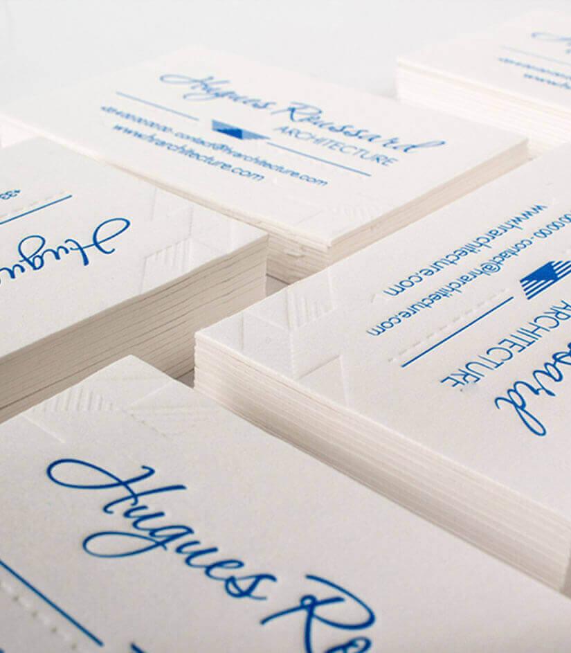 Cartes De Visite Type Papier