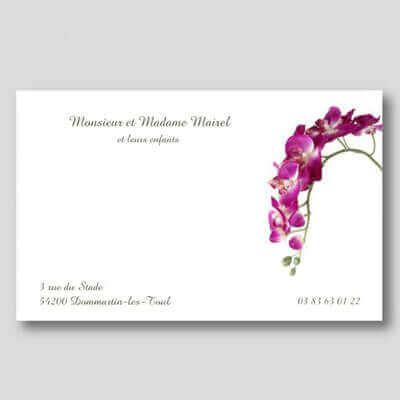 Exemple De Cartes Visite Personnelle Avec Fleur